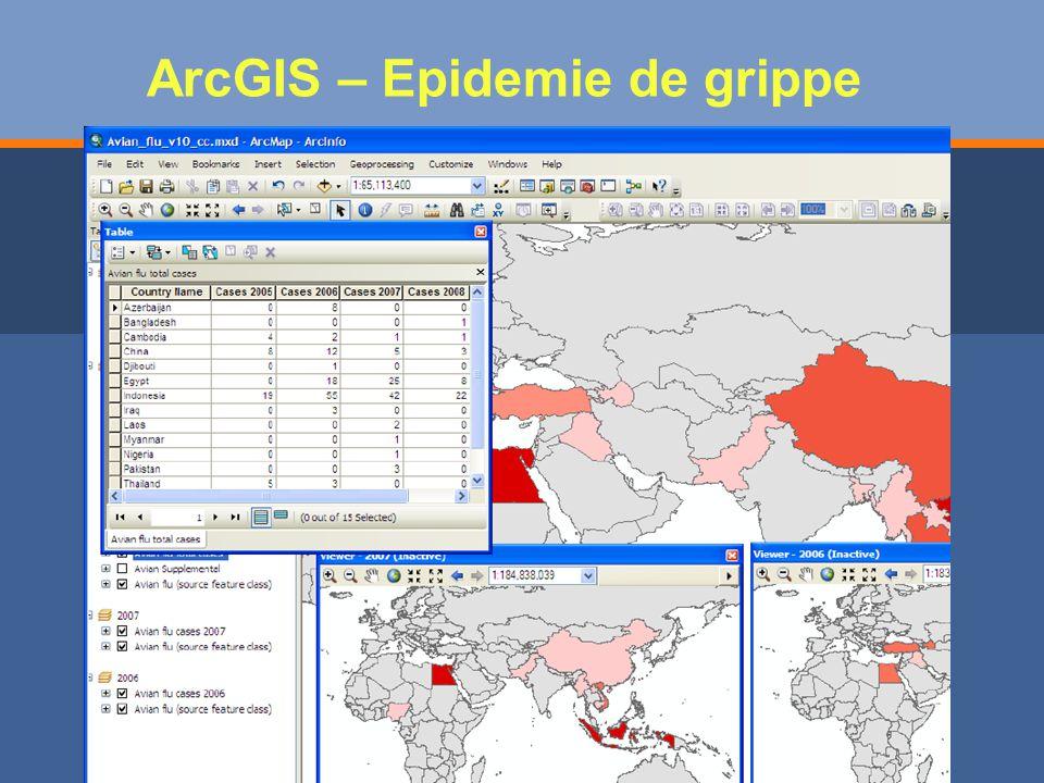 ArcGIS – Epidemie de grippe