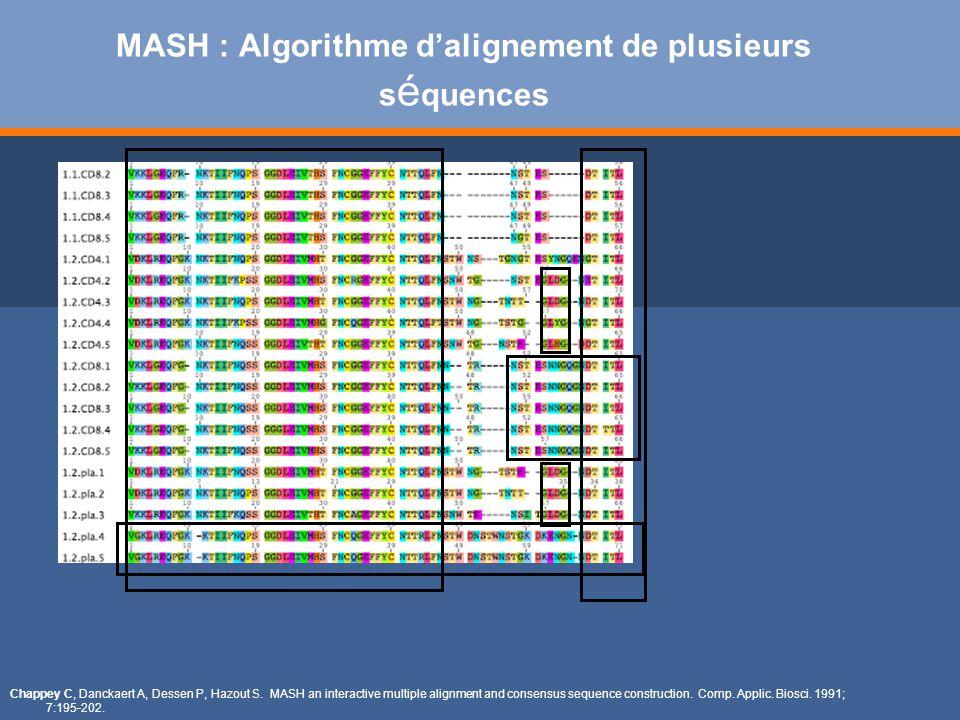 MASH : Algorithme d'alignement de plusieurs séquences