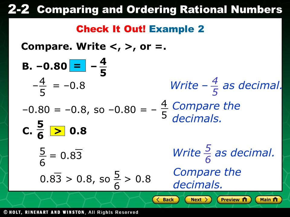 _ _ _ _ _ _ _ _ Write – as decimal. Compare the decimals.