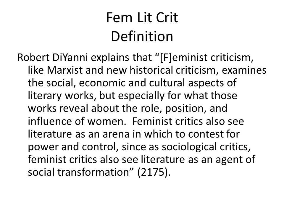 Fem Lit Crit Definition