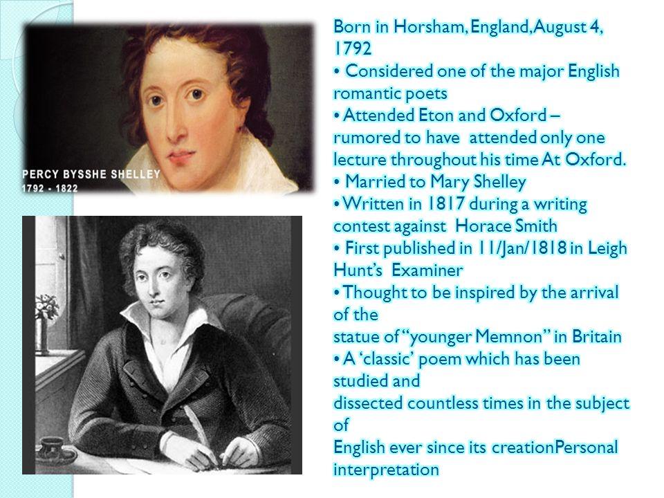 Born in Horsham, England, August 4, 1792