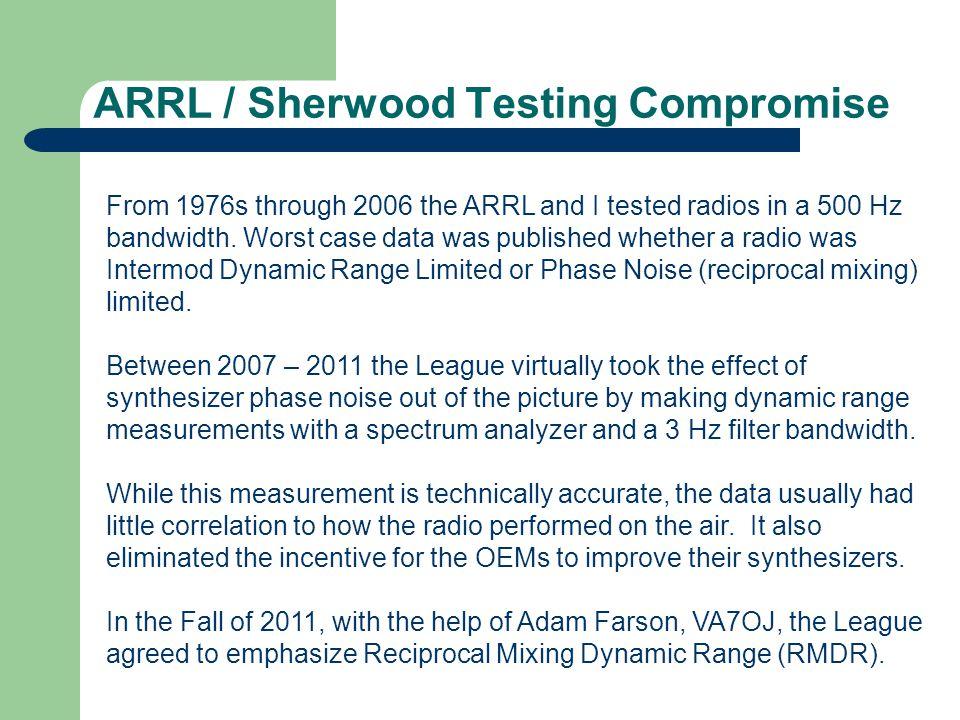 ARRL / Sherwood Testing Compromise