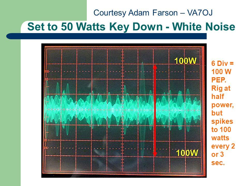 Set to 50 Watts Key Down - White Noise