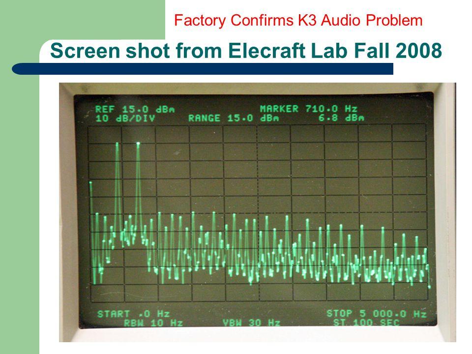 Screen shot from Elecraft Lab Fall 2008
