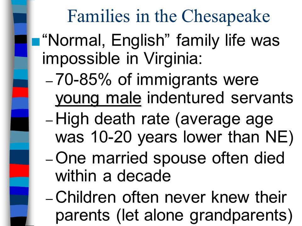 Families in the Chesapeake