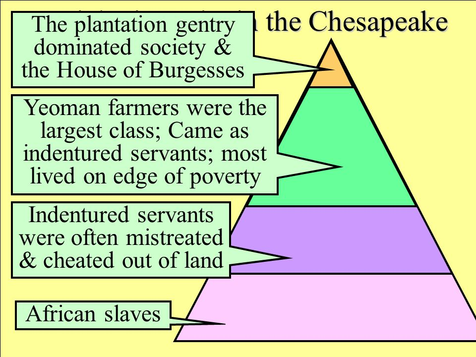 Social Hierarchy in the Chesapeake