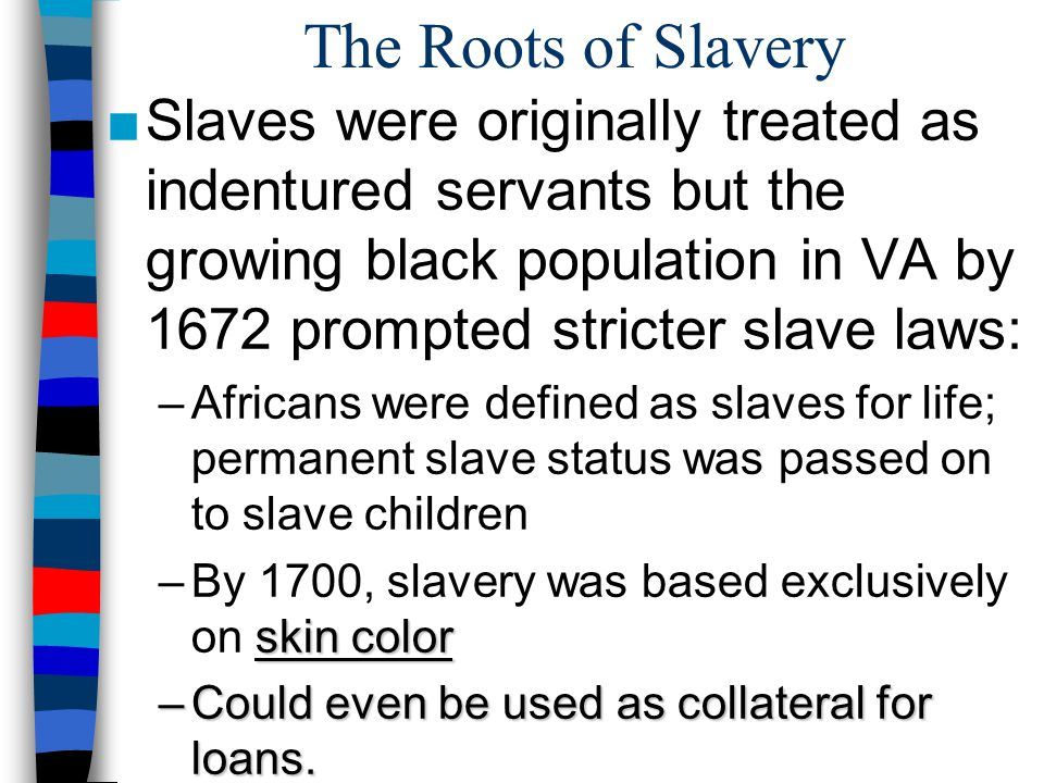 The Roots of Slavery
