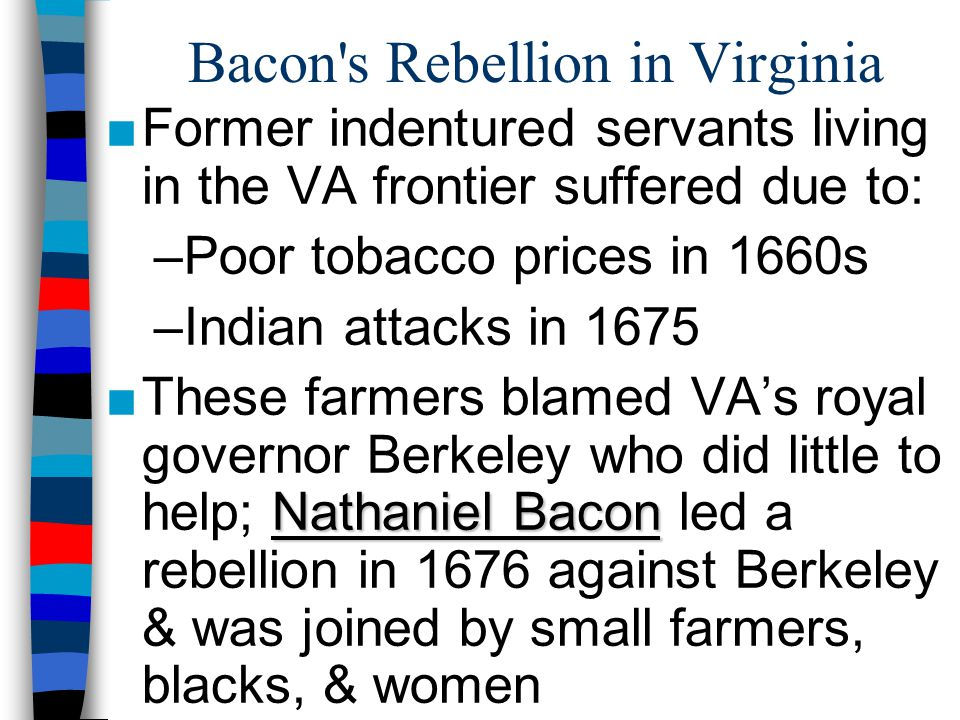Bacon s Rebellion in Virginia