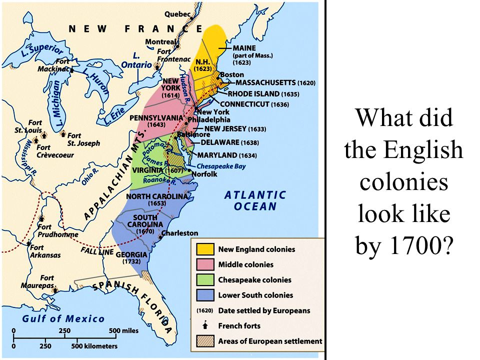 New england and chesapeake regions