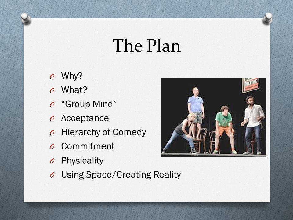 The Plan Why What Group Mind Acceptance Hierarchy of Comedy
