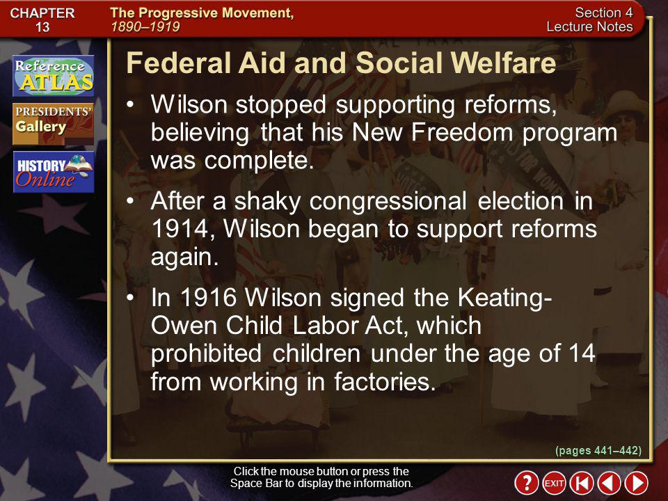 Federal Aid and Social Welfare