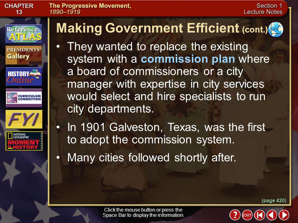 Making Government Efficient (cont.)