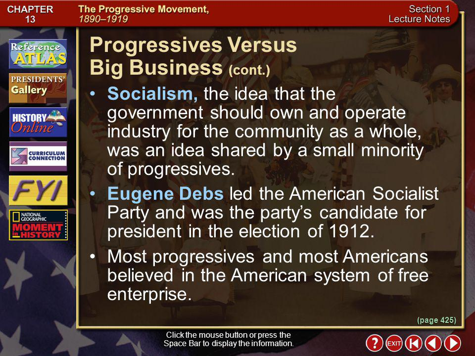 Progressives Versus Big Business (cont.)