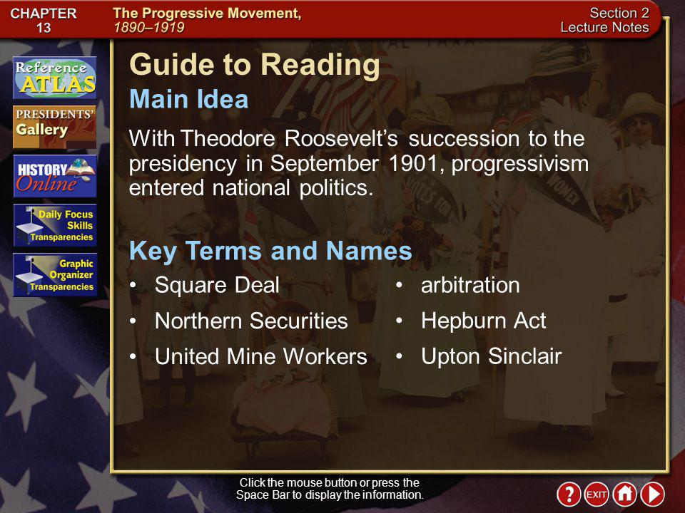 Guide to Reading Main Idea Key Terms and Names