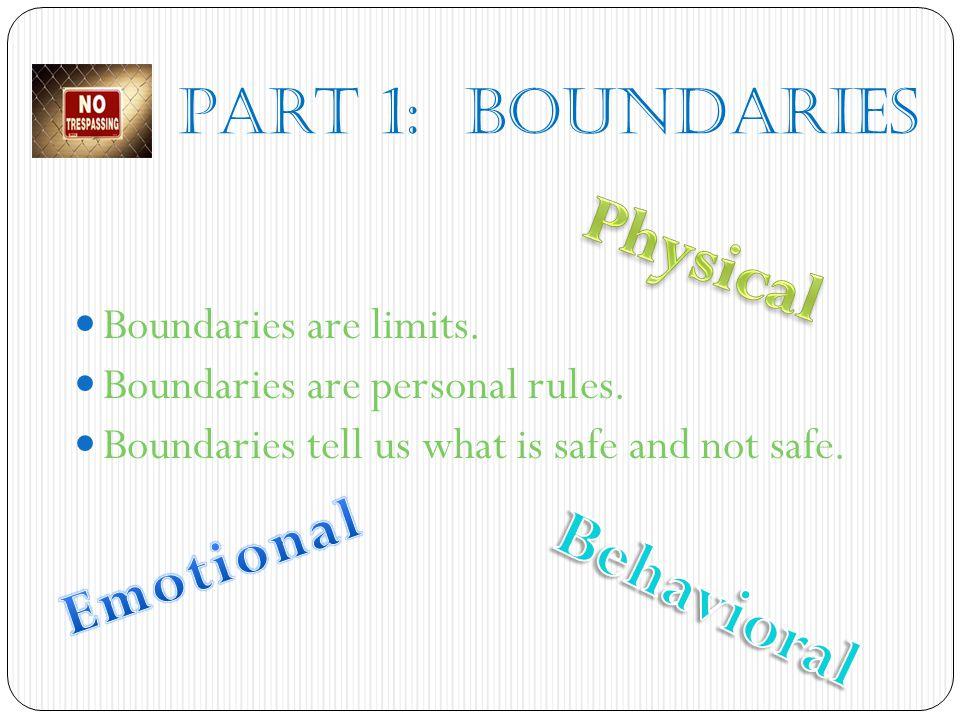 Physical Behavioral Emotional Part 1: BOUNDARIES