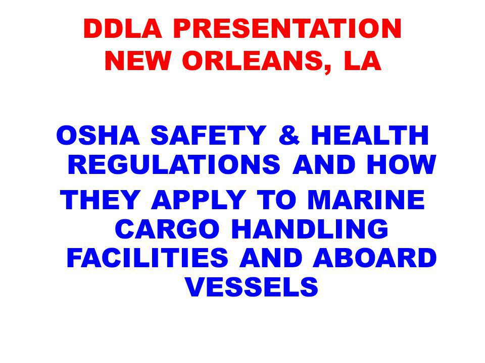 DDLA PRESENTATION NEW ORLEANS, LA