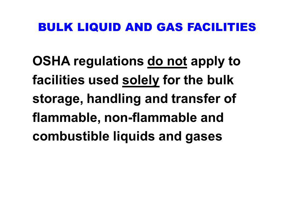 BULK LIQUID AND GAS FACILITIES