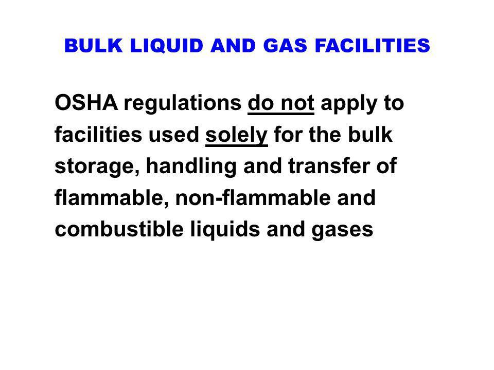 BULK LIQUID AND GAS FACILITIES