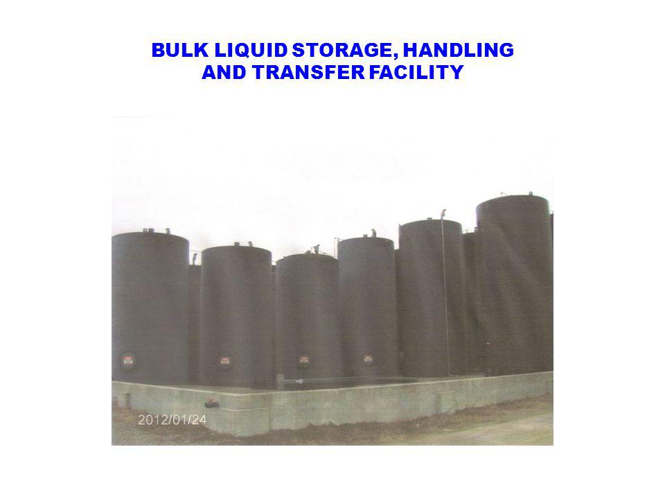 BULK LIQUID STORAGE, HANDLING AND TRANSFER FACILITY