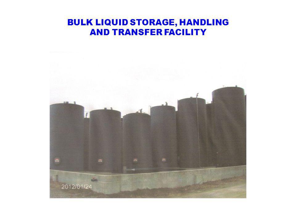 BULK LIQUID STORAGE, HANDLING AND TRANSFER FACILITY