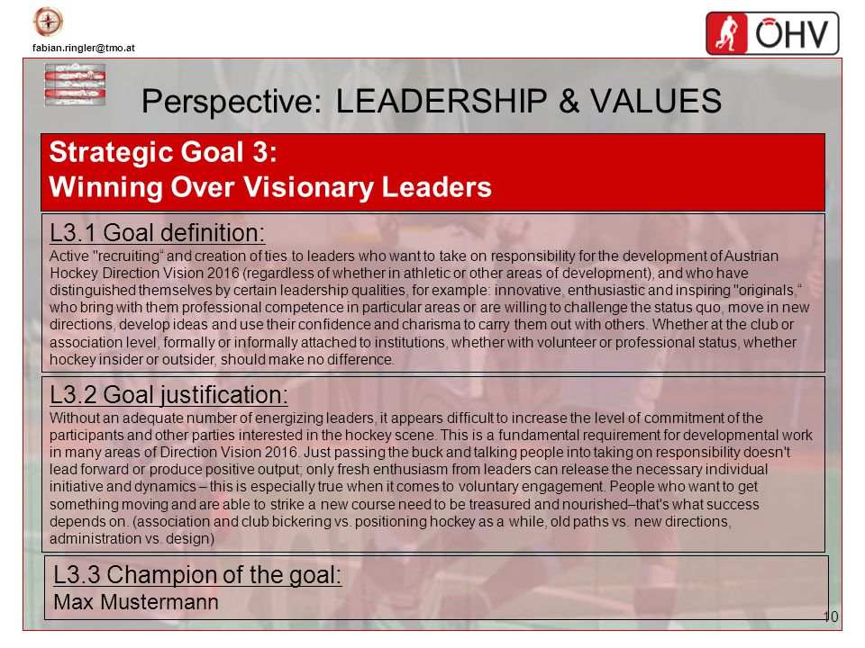 Perspective: LEADERSHIP & VALUES
