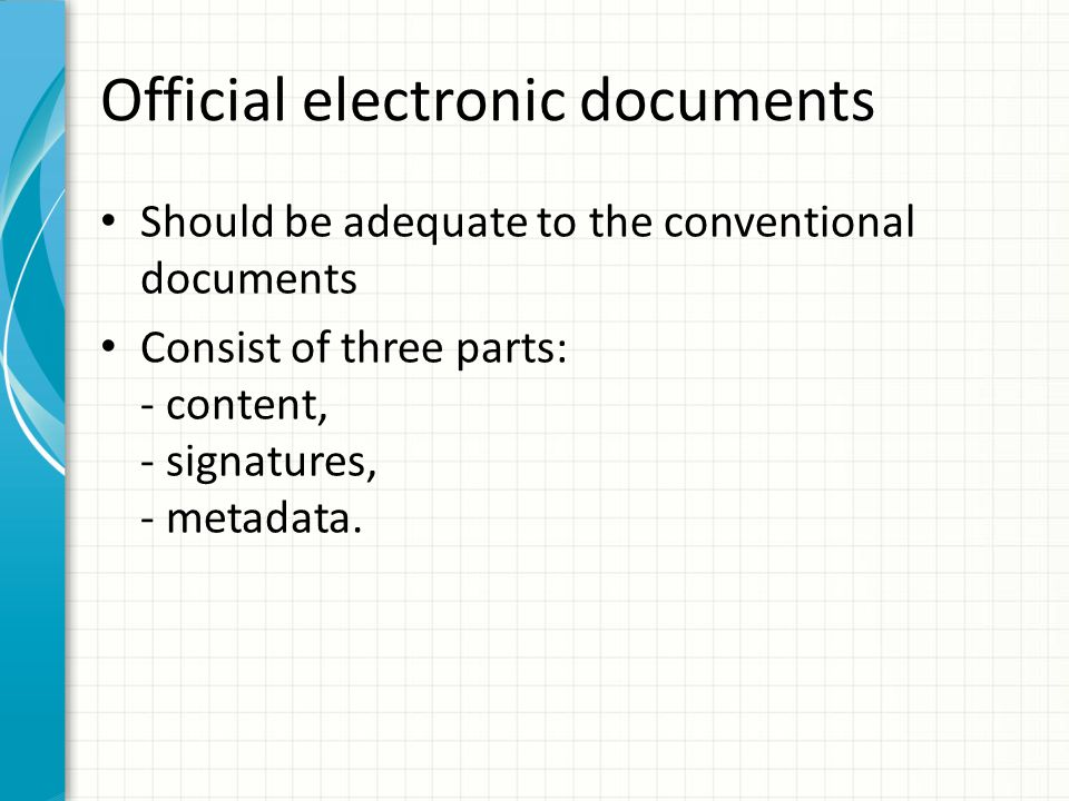 Official electronic documents