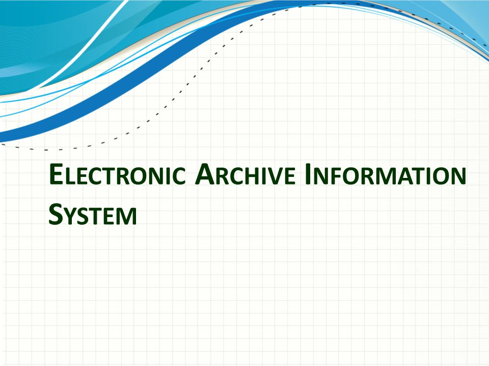 Electronic Archive Information System
