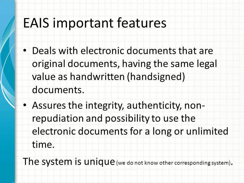 EAIS important features