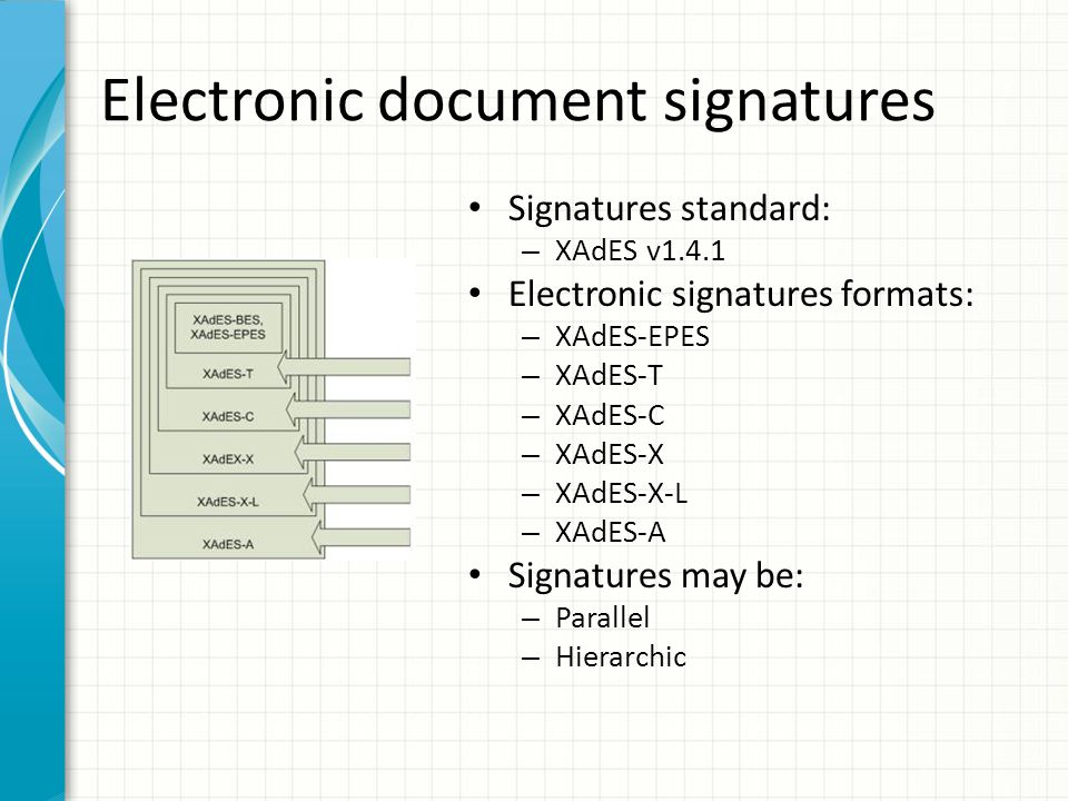Electronic document signatures