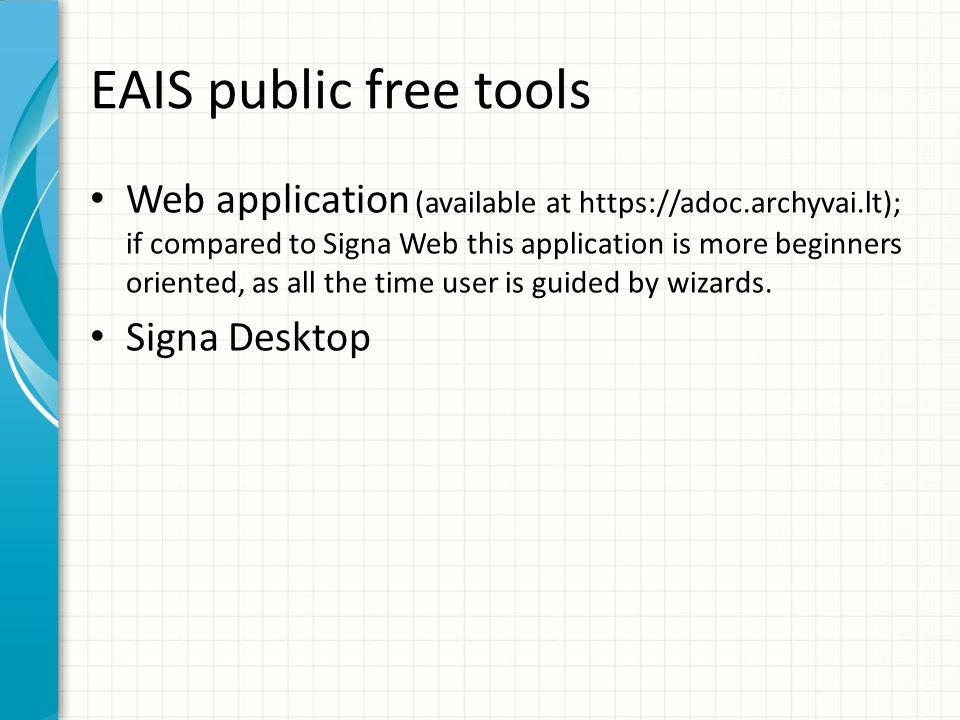 EAIS public free tools