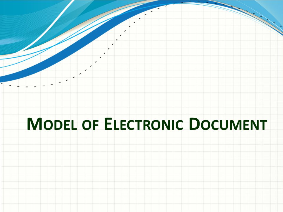 Model of Electronic Document