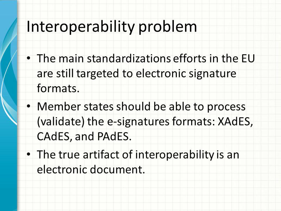 Interoperability problem