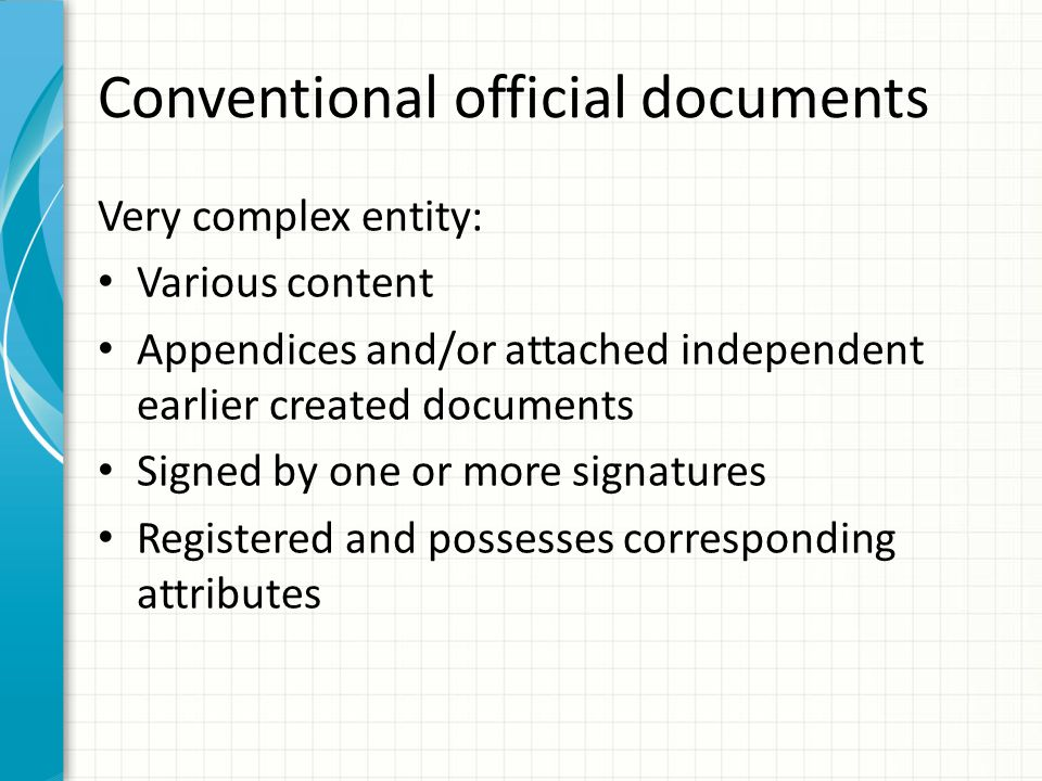 Conventional official documents