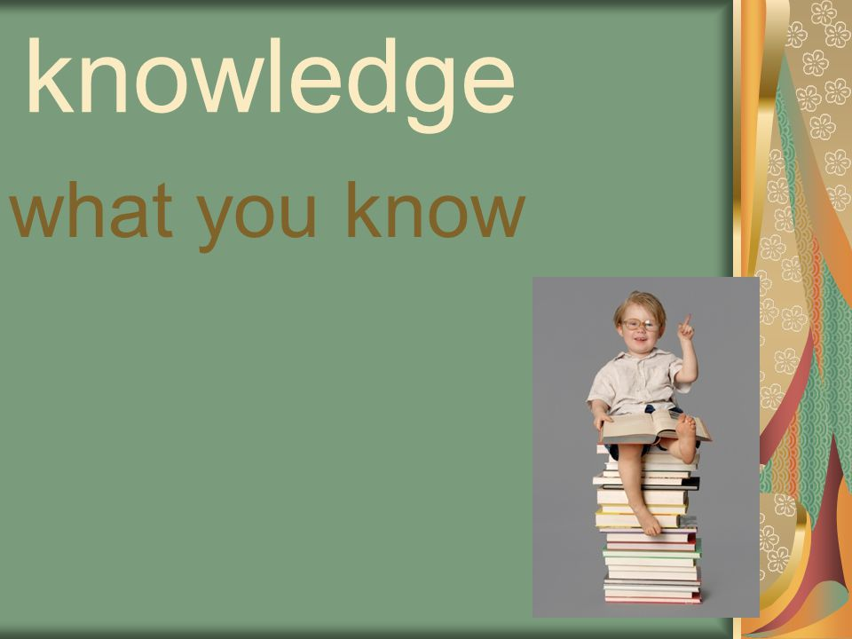 knowledge what you know