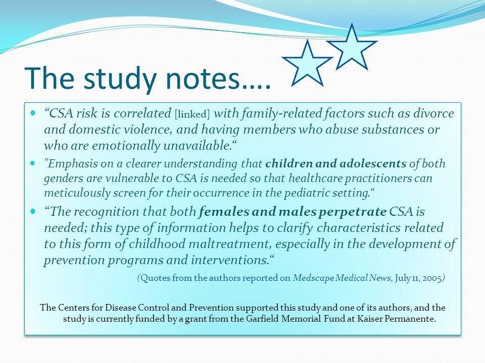 The study notes….