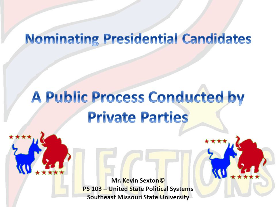 A Public Process Conducted by Private Parties