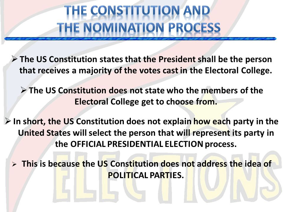 THE NOMINATION PROCESS