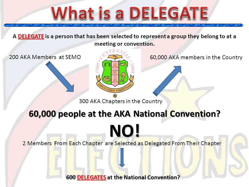 What is a DELEGATE NO! 60,000 people at the AKA National Convention