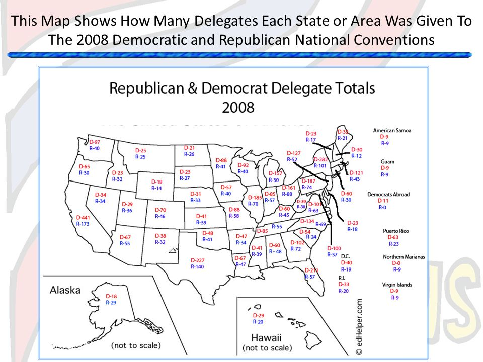 This Map Shows How Many Delegates Each State or Area Was Given To