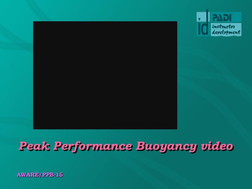 Peak Performance Buoyancy video