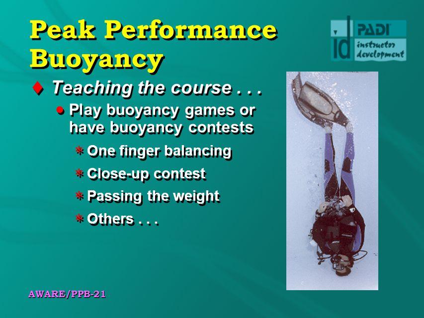 Peak Performance Buoyancy