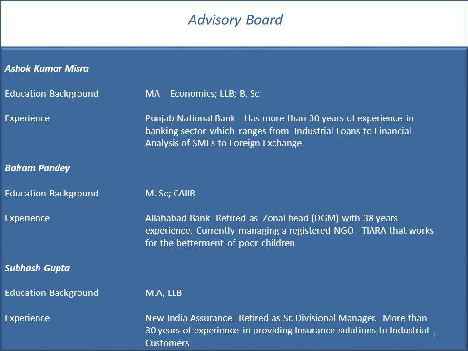 Advisory Board Ashok Kumar Misra
