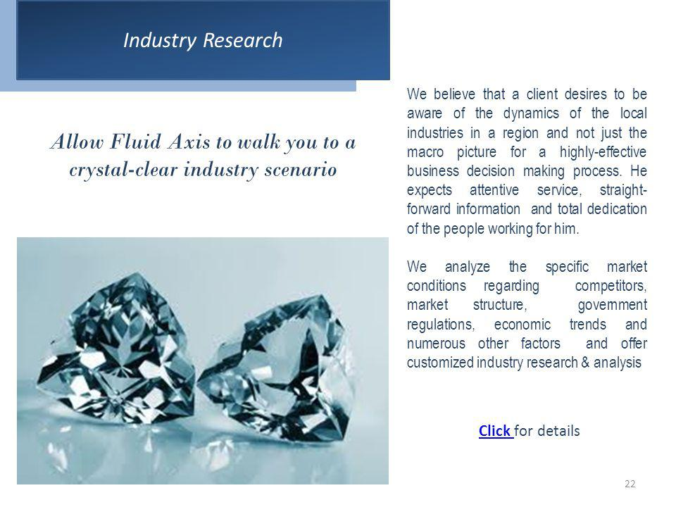Allow Fluid Axis to walk you to a crystal-clear industry scenario