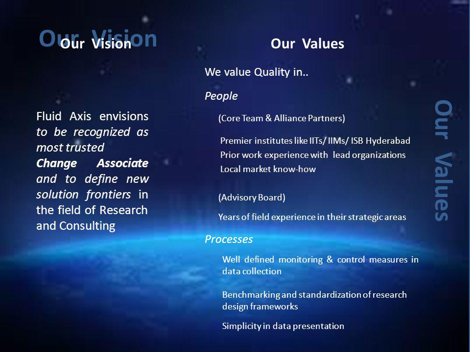 Our Vision Our Values Our Vision Our Values