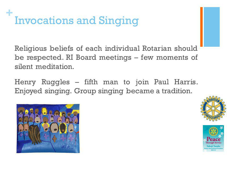 Invocations and Singing