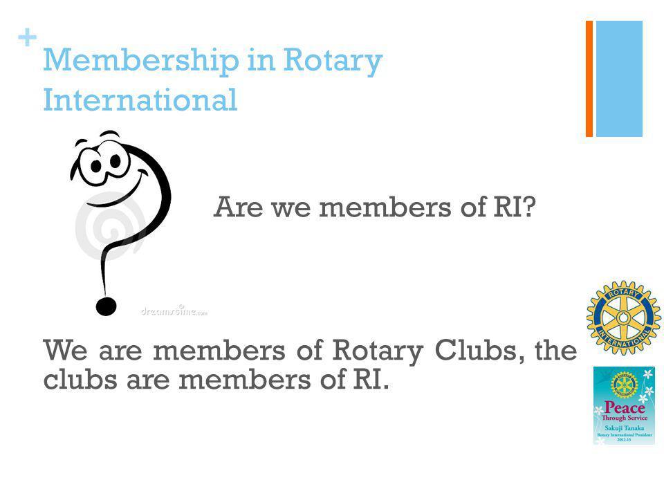 Membership in Rotary International