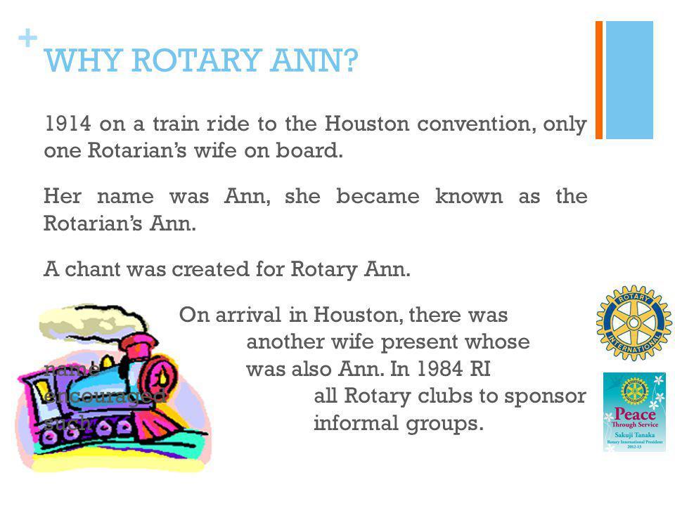 WHY ROTARY ANN