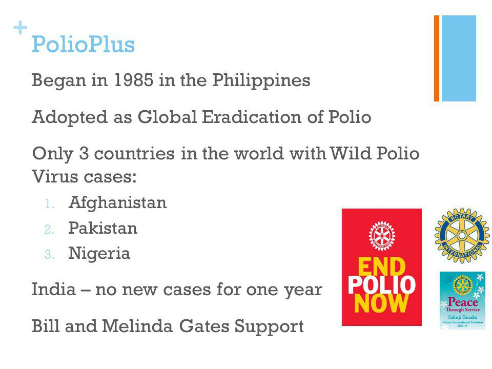 PolioPlus Began in 1985 in the Philippines