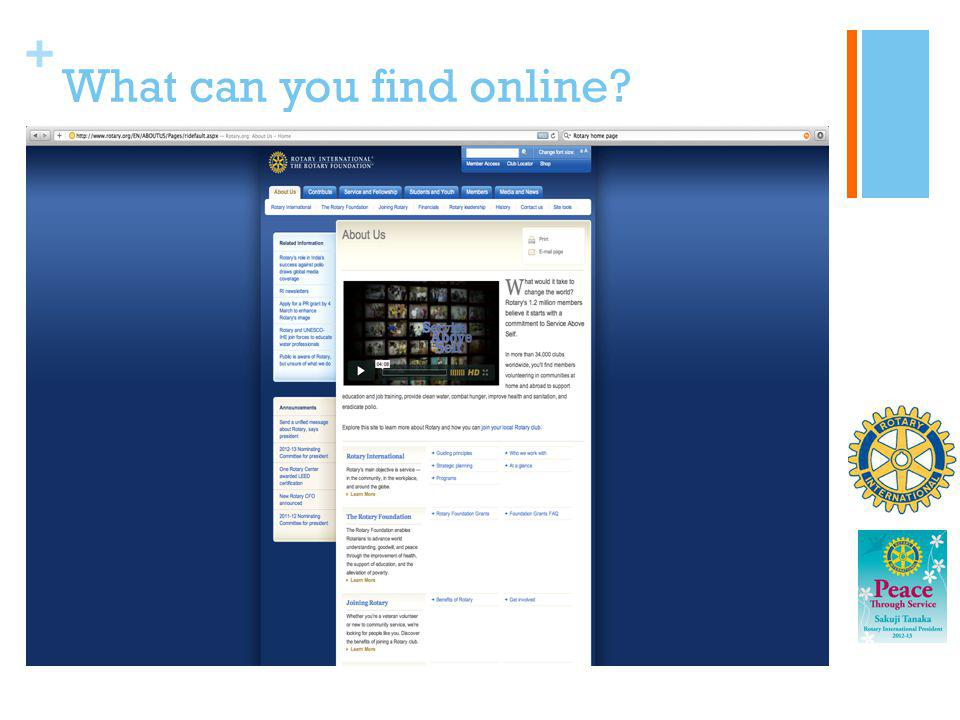 What can you find online