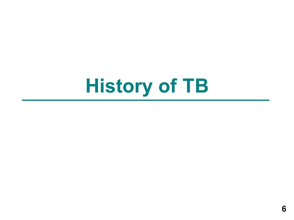 History of TB